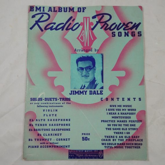 bmi-album-of-radio-proven-songs-jimmy-dale-vintage-music-book-1940