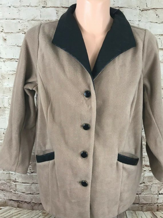 bob-mackie-wearable-art-beige-fleece-faux-leather-trim-womens-jacket-size-1x