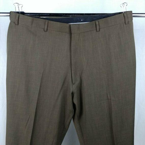botany-500-brown-dress-pants-slacks-flat-front-mens-42-polyester