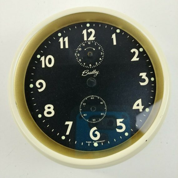 bradley-windup-alarm-clock-steampunk-parts-housing-glass-dial-hands-lot-17