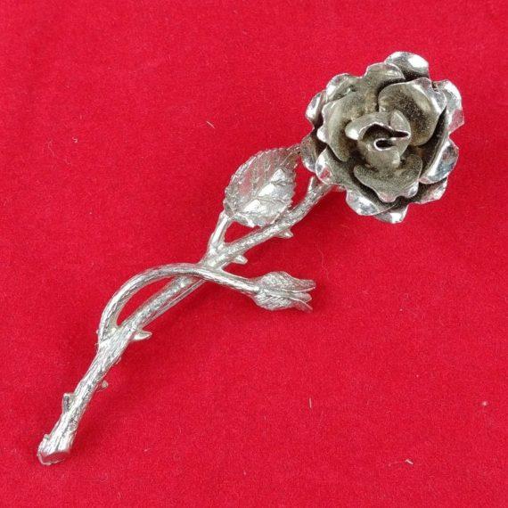 brooch-rose-elegant-silver-tone-art-deco-metal-coat-pin-hat-vintage-lot-02