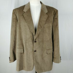 calvin-america-vintage-suit-coat-tan-beige-corduroy-jacket-mens-sz-48r-2-buttons