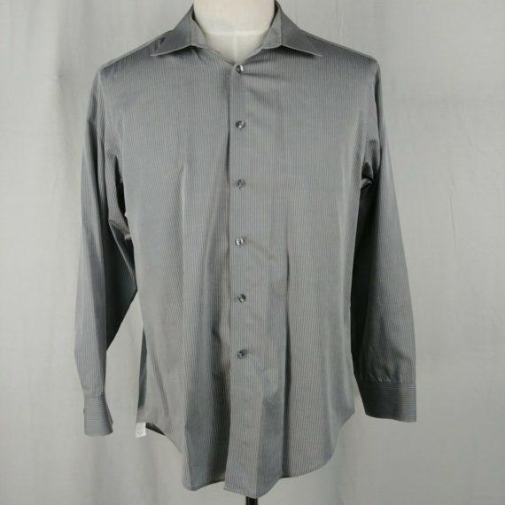 calvin-klein-slim-fit-mens-gray-pinstripe-dress-shirt-button-up-16-5-x-32-33-l