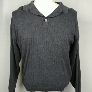 cambridge-classics-mervyns-gray-ribbed-long-sleeve-henley-sweater-mens-large