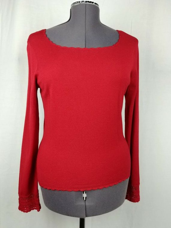 caslon-red-long-sleeve-scoop-neck-sweater-womens-size-large
