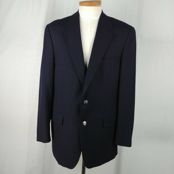 chaps-ralph-lauren-blue-suit-coat-jacket-blazer-wool-2-button-mens-size-44-t