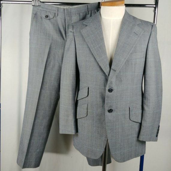 chaps-ralph-lauren-gray-mens-three-button-suit-jacket-flat-front-dress-pants