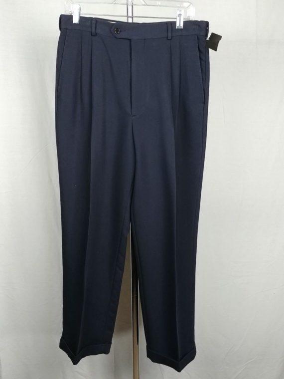 chaps-ralph-lauren-trousers-navy-blue-dress-pants-slacks-3330