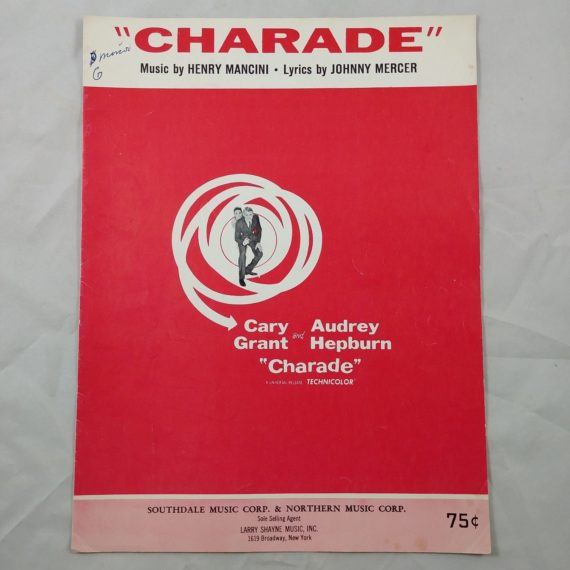 charade-cary-grant-audrey-hepburn-vintage-sheet-music-technicolor-1963