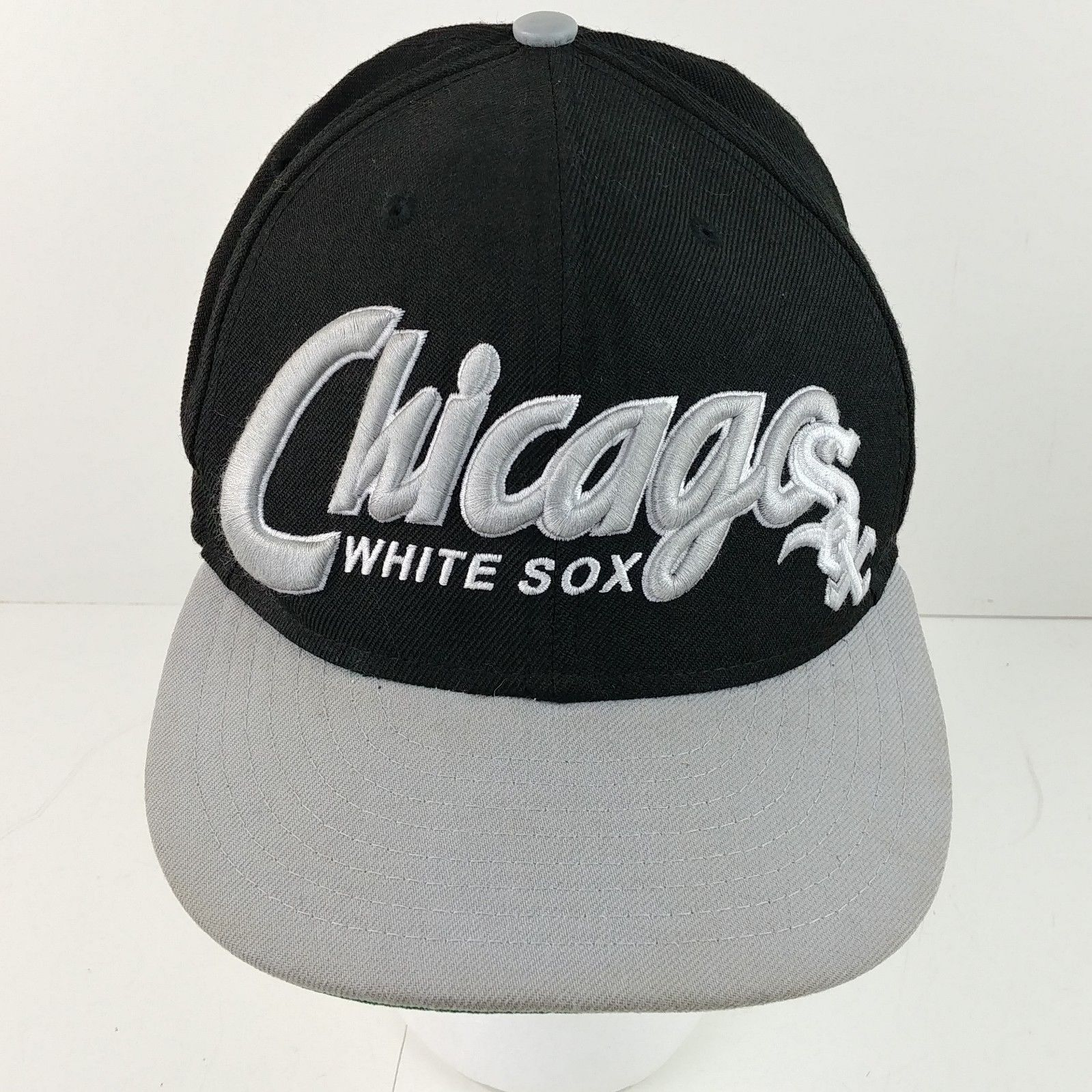055b6e744 Chicago White Sox 9Fifty New Era Black Baseball Cap Hat Snapback Trucker  -#11