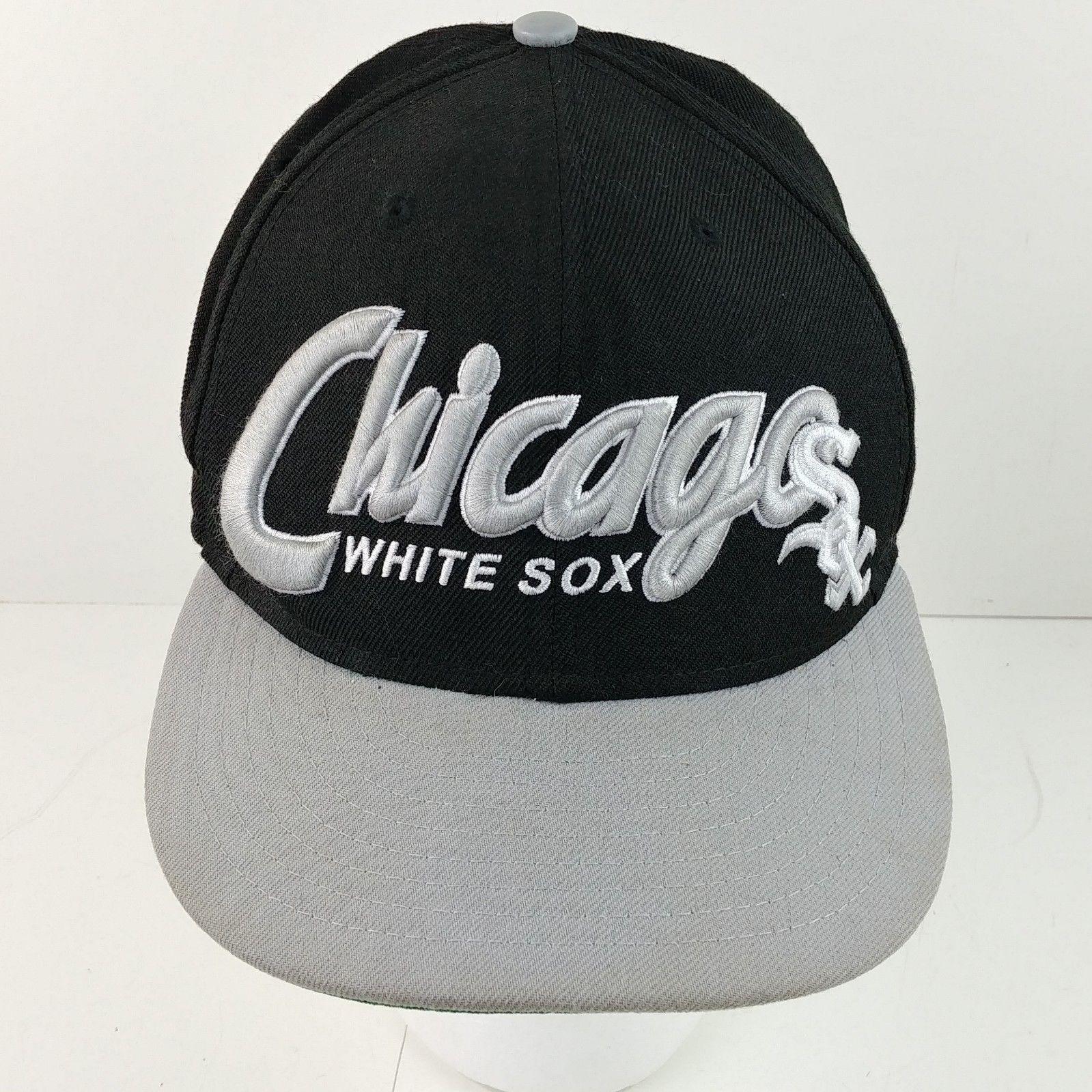 1fa22f24c6016 Chicago White Sox 9Fifty New Era Black Baseball Cap Hat Snapback ...