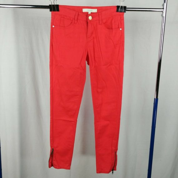 chord-red-orange-skinny-jeans-juniors-size-5-zip-ankle