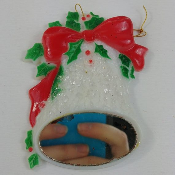 christmas-ornament-bell-holly-bow-mirror-hard-plastic-3-5-lot-39