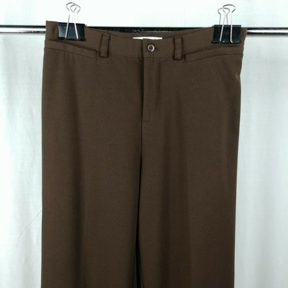 christopher-banks-brown-slacks-dress-pants-straight-bootcut-womens-size-6-long
