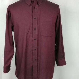 claybrooke-maroon-button-down-long-sleeve-casual-dress-shirt-mens-size-16-1-2