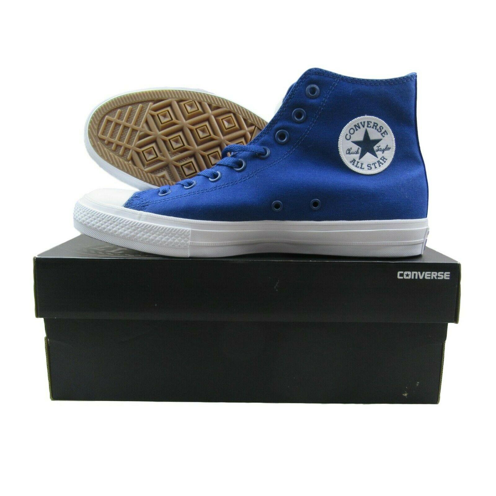 29879b8d5b46 Converse Chuck Taylor All Star II Lunarlon Blue White Shoes 150146C ...