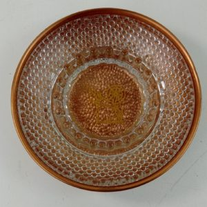 copper-dish-w-glass-hobnail-ashtray-spinner-design-2-pcs-set-6-3-4-vintage