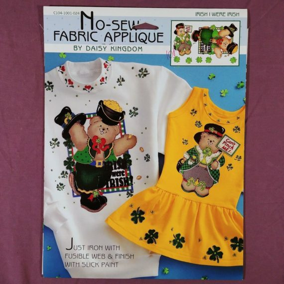 daisy-kingdom-no-sew-fabric-applique-irish-i-were-irish-shamrock-stpatrick-2