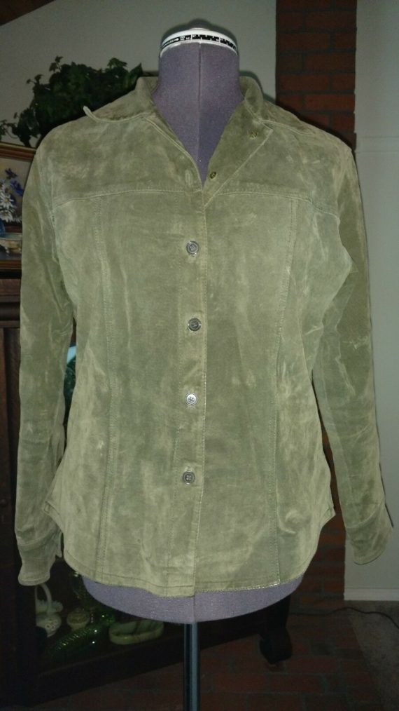 dark-green-suede-leather-jacket-ami-size-medium
