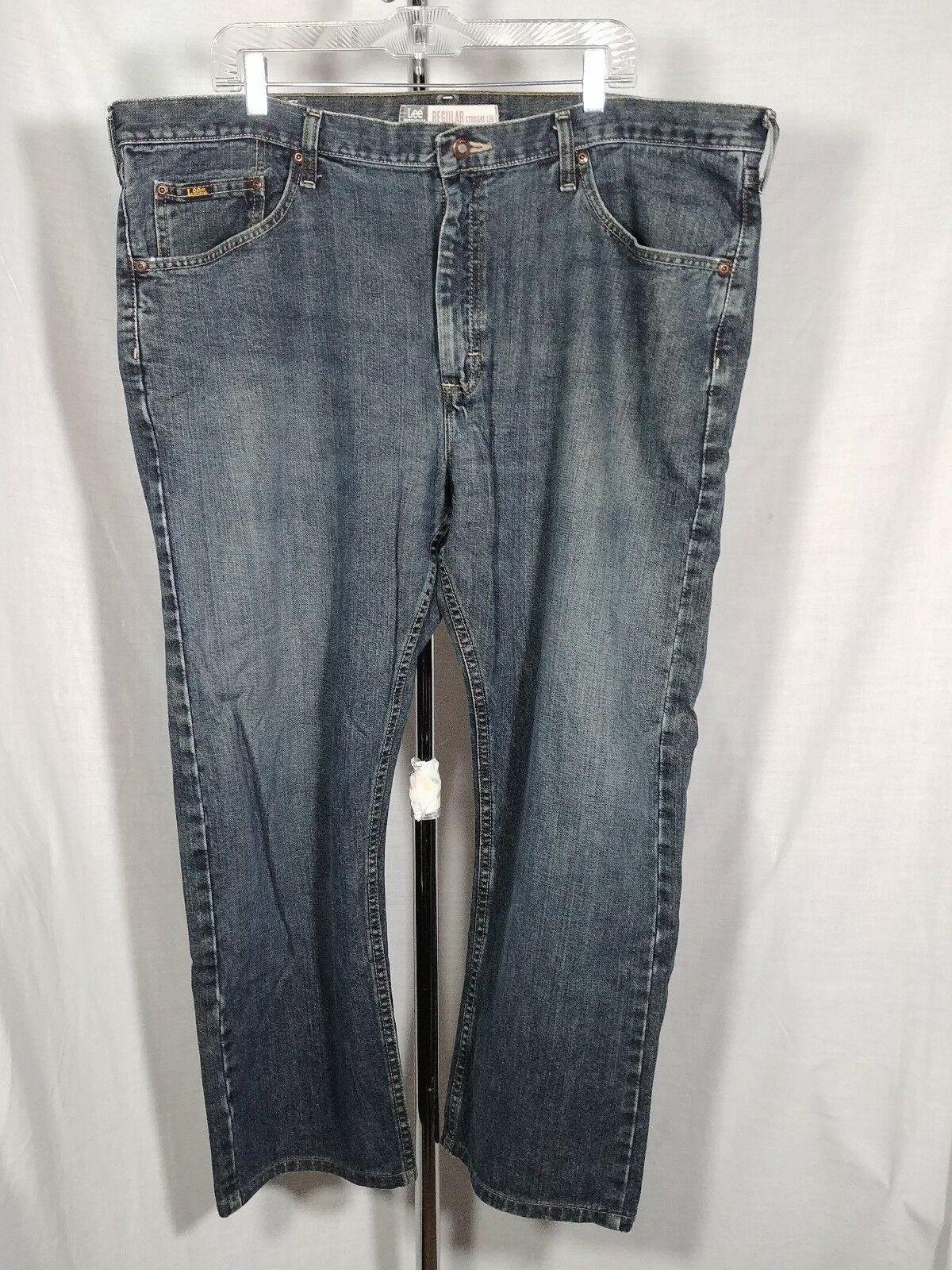 385824d6 Dark Wash Mens Lee Blue Jeans Regular Straight Leg 42W 29L 100 ...