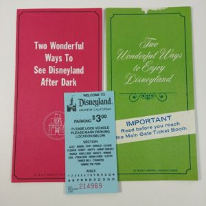 disneyland-parking-ticket-w-main-gate-brochures-before-after-dark-lot-4