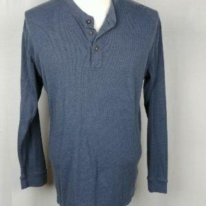dockers-blue-cotton-blend-long-sleeve-pullover-sweater-shirt-mens-size-l