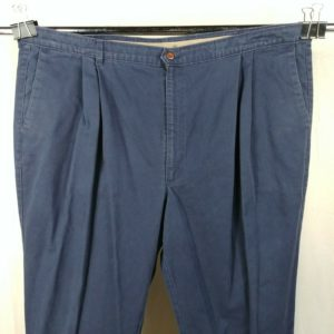 dockers-blue-pleated-front-tapered-leg-casual-pants-mens-size-48-x-32
