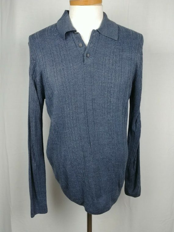 dockers-casual-mens-long-sleeve-polo-shirt-blue-size-large-acrylic