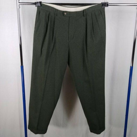 dockers-charcoal-chevron-herringbone-pleated-front-casual-dress-pants-mens-42