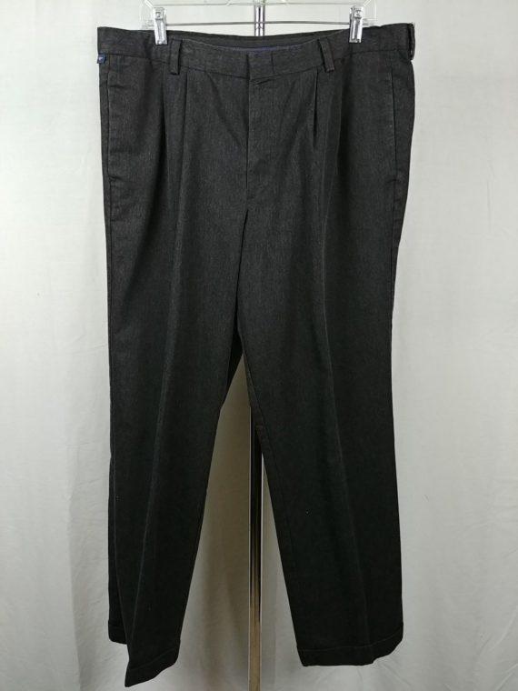 dockers-cotton-blend-gray-charcoal-casual-dress-pants-mens-size-3832