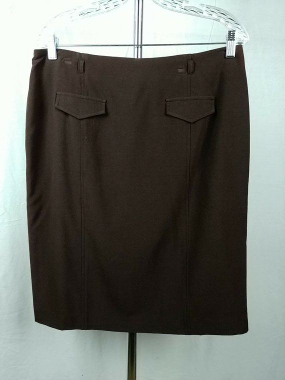 dress-barn-black-pencil-straight-skirt-womens-size-12
