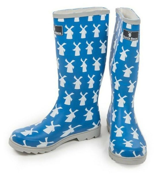 dutch-bros-coffee-womens-windmill-blue-rain-boots-size-5