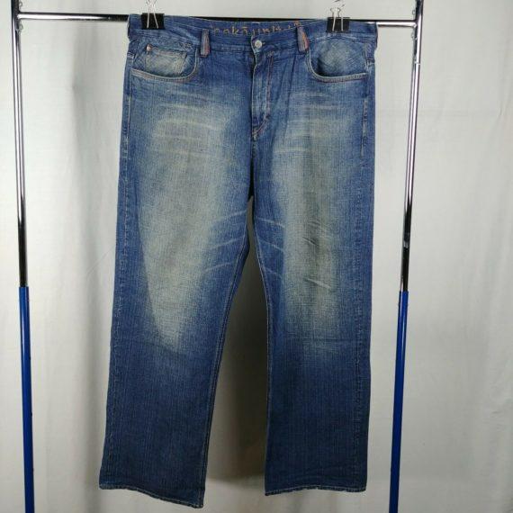 ecko-unltd-blue-denim-jeans-mens-size-40-100-cotton-faded
