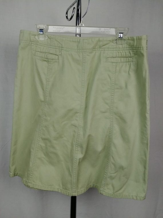 eddie-bauer-green-short-skirt-100-cotton-womens-size-12