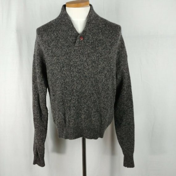 eddie-bauer-mens-gray-wool-blend-sweater-collared-size-large-l