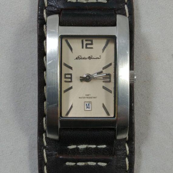 eddie-bauer-watch-100-ft-water-resistant-brown-cuff-leather-genuine-band-21