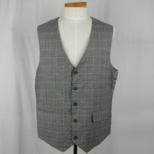 elevee-custom-tailored-robert-swift-gray-plaid-suit-vest-mens-size-46