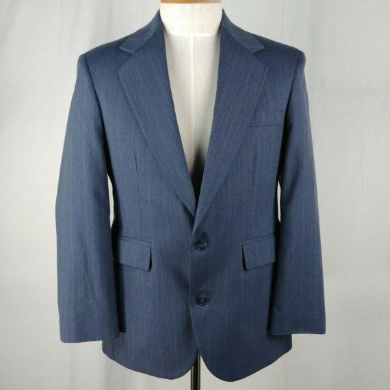 executive-collection-blue-wool-suit-jacket-coat-blazer-mens-size-40-2-button