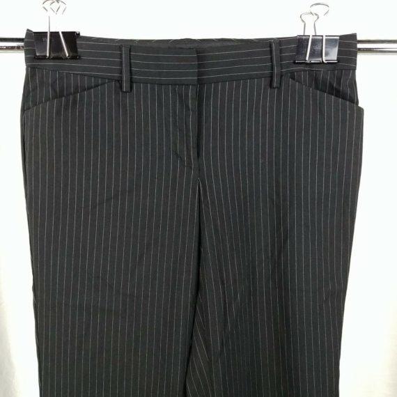 express-design-studio-black-pinstripe-flare-leg-dress-pants-womens-size-4-short