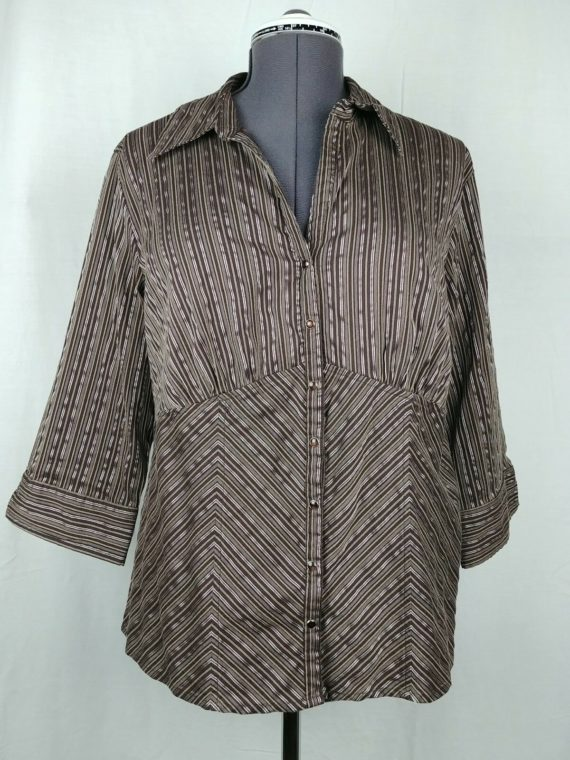 faded-glory-3-4-sleeve-striped-blouse-womens-plus-stretch-size-16w