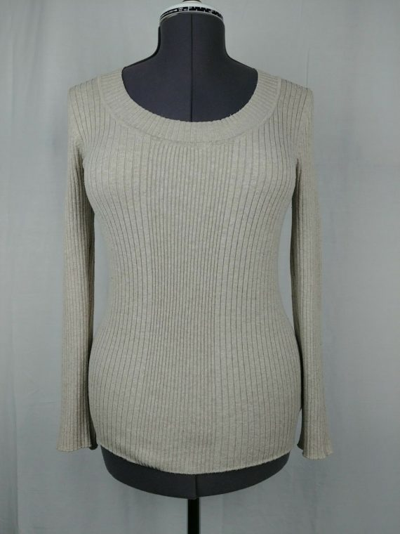 forever21-beige-long-sleeve-scoop-neck-sweater-womens-juniors-size-large