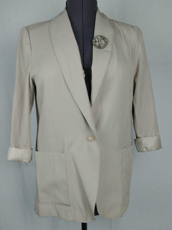 fundamental-things-petites-womens-size-8-beige-suit-coat-blazer