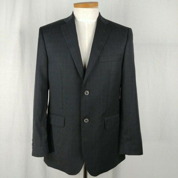 g-manzoni-black-two-button-suit-coat-sports-jacket-blazer-mens-size-40r-italy