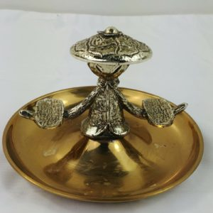 gold-tone-chinese-brass-figure-ashtray-arms-out-to-hold-cigarettes