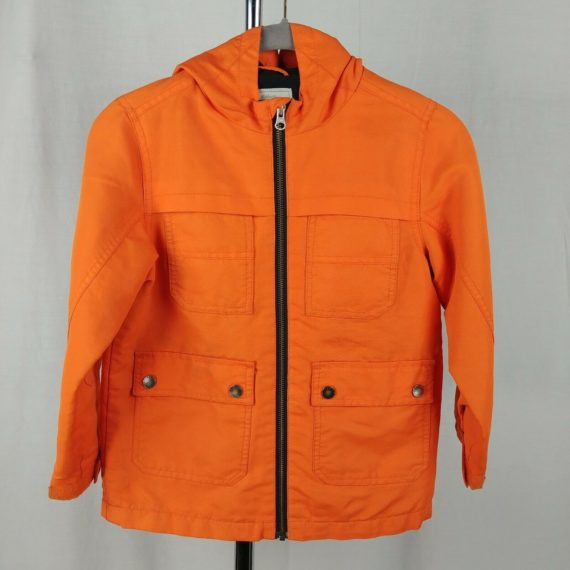 gymboree-neon-orange-kids-raincoat-jacket-full-zip-size-s-5-8