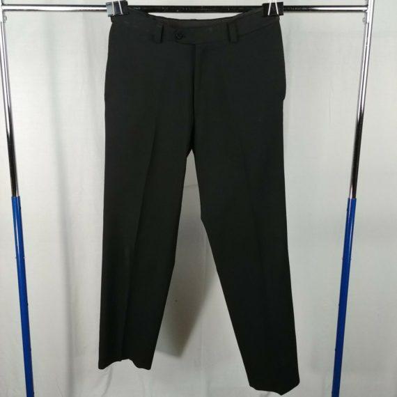 haggar-black-flat-front-dress-suit-pants-mens-size-32-x-32
