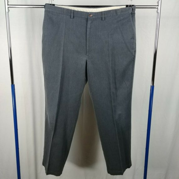 haggar-gray-flat-front-causal-dress-pants-mens-size-42-x-32
