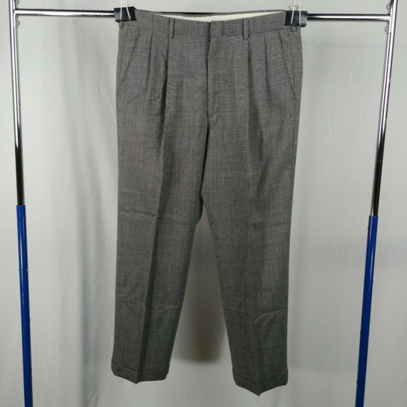 haggar-gray-pleated-front-casual-mens-pants-size-34