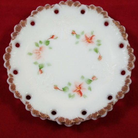 hand-decorated-red-floral-leaf-shell-border-6-plate-118