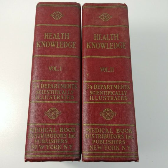 health-knowledge-volume-1-2-by-j-l-corish-1927-hardcover-medical-books